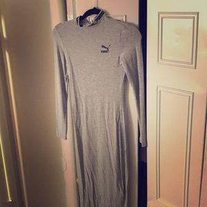 PUMA maxi dress w/ keyhole back